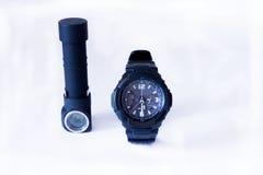 Το ρολόι παρουσιάζει κατά το ήμισυ μετά από έξι Στοκ εικόνες με δικαίωμα ελεύθερης χρήσης