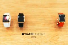 Το ρολόι της Apple αρχίζει παγκοσμίως Στοκ Εικόνες