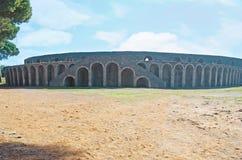 Το ρωμαϊκό αμφιθέατρο στην Πομπηία στοκ εικόνα