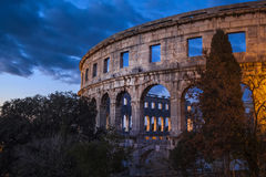 Το ρωμαϊκό αμφιθέατρο Pula, Κροατία Στοκ Εικόνες