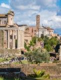 Το ρωμαϊκό φόρουμ σε μια ηλιόλουστη ημέρα Ρώμη, Ιταλία στοκ εικόνες