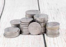 Το ρωσικό ρούβλι και άλλα νομίσματα Στοκ Εικόνα
