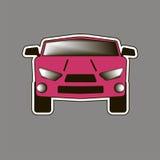 Το ρόδινο αυτοκίνητο sticker απεικόνιση αποθεμάτων