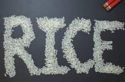 Ρύζι λέξης Στοκ Εικόνες