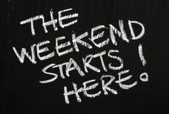 Το Σαββατοκύριακο αρχίζει εδώ! Στοκ φωτογραφίες με δικαίωμα ελεύθερης χρήσης