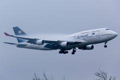 Το σαουδαραβικό Boeing 747 Στοκ Εικόνα