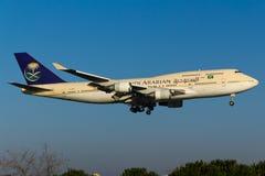 Το σαουδαραβικό Boeing 747 Στοκ φωτογραφία με δικαίωμα ελεύθερης χρήσης