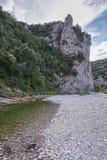 Το σαφές νερό του ποταμού Λ ` Ibie στην περιοχή Ardeche στη Γαλλία Στοκ φωτογραφία με δικαίωμα ελεύθερης χρήσης