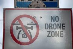 Το σημάδι απαγορεύει τη χρήση των κηφήνων στοκ φωτογραφία με δικαίωμα ελεύθερης χρήσης