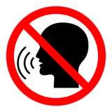 Το σημάδι απαγόρευσης μην μιλώντας απεικόνιση αποθεμάτων