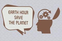 Το σημάδι κειμένων που παρουσιάζει γήινη ώρα σώζει τον πλανήτη Εννοιολογική φωτογραφία τα φω'τα από EventMovement από το WWF κάθε διανυσματική απεικόνιση
