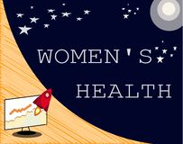 Το σημάδι κειμένων που παρουσιάζει γυναίκες s είναι υγεία Εννοιολογική φωτογραφία Women& x27 φυσική συνέπεια υγείας του s που απο Απεικόνιση αποθεμάτων
