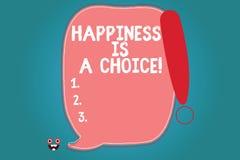 Το σημάδι κειμένων που παρουσιάζει ευτυχία είναι μια επιλογή Εννοιολογικό ευτυχές όλη την ώρα εύθυμο εμπνευσμένο παρακινημένο κεν απεικόνιση αποθεμάτων