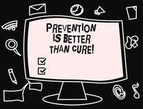 Το σημάδι κειμένων που παρουσιάζει πρόληψη είναι καλύτερο από τη θεραπεία Η εννοιολογική ασθένεια φωτογραφιών είναι αποτρέψιμη εά απεικόνιση αποθεμάτων