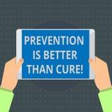 Το σημάδι κειμένων που παρουσιάζει πρόληψη είναι καλύτερο από τη θεραπεία Η εννοιολογική ασθένεια φωτογραφιών είναι αποτρέψιμη εά διανυσματική απεικόνιση
