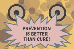 Το σημάδι κειμένων που παρουσιάζει πρόληψη είναι καλύτερο από τη θεραπεία Η εννοιολογική ασθένεια φωτογραφιών είναι αποτρέψιμη εά ελεύθερη απεικόνιση δικαιώματος