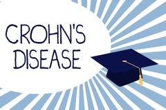 Το σημάδι κειμένων που παρουσιάζει Crohn s είναι ασθένεια Εννοιολογική εμπρηστική ασθένεια φωτογραφιών του γαστροεντερικού κομματ ελεύθερη απεικόνιση δικαιώματος