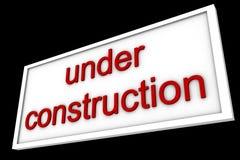 Το σημάδι λέει κάτω από την κατασκευή στοκ φωτογραφίες με δικαίωμα ελεύθερης χρήσης