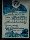 Το σημάδι παρουσιάζει ότι εισάγετε την αμοιβή και μερικούς κανόνες Koh Lanta μουγκρητού φυσικό στοκ εικόνες