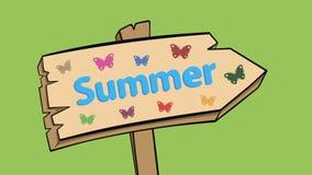 Το σημάδι στο καλοκαίρι απόθεμα βίντεο