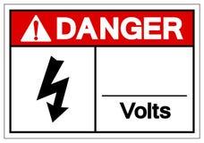 Το σημάδι συμβόλων βολτ κινδύνου, διανυσματική απεικόνιση, απομονώνει διανυσματική απεικόνιση