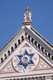 Το σημάδι ΤΟΥ, η βασιλική Di Santa Croce βασιλικών της ιερής διαγώνιας εκκλησίας στη Φλωρεντία, Ιταλία Στοκ Φωτογραφίες