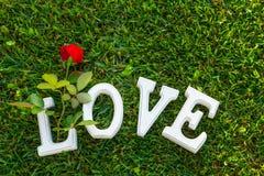 Το σημάδι αγάπης με αυξήθηκε Στοκ εικόνες με δικαίωμα ελεύθερης χρήσης