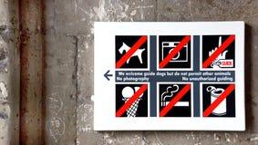 Το σημάδι απαγόρευσης Στοκ Εικόνες