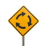 Το σημάδι διασταυρώσεων κυκλικής κυκλοφορίας απομονώνει Στοκ φωτογραφία με δικαίωμα ελεύθερης χρήσης