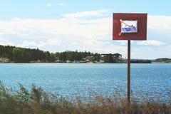 Το σημάδι καμία κολύμβηση Στοκ εικόνες με δικαίωμα ελεύθερης χρήσης