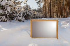 Το σημάδι στο δασικό υπόβαθρο Στοκ εικόνα με δικαίωμα ελεύθερης χρήσης