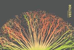 Το σημείο εκρήγνυται Σειρά με τα δυναμικά εκπεμπόμενα μόρια τρισδιάστατο ύφος τεχνολογίας αφηρημένη ανασκόπηση Στοκ φωτογραφία με δικαίωμα ελεύθερης χρήσης