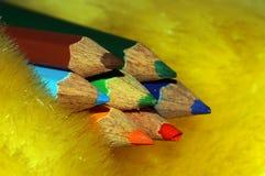 Το σημείο των μολυβιών χρώματος Στοκ Εικόνες