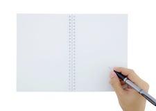 το σημειωματάριο χεριών γ& Στοκ εικόνα με δικαίωμα ελεύθερης χρήσης