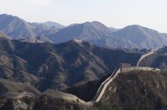Το Σινικό Τείχος Badaling στη κομητεία Πεκίνο Κίνα Yanqing έχτισε το 1504 κατά τη διάρκεια της δυναστείας Ming 1015 μέτρα επάνω α Στοκ Φωτογραφία