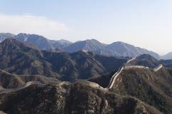 Το Σινικό Τείχος Badaling στη κομητεία Πεκίνο Κίνα Yanqing έχτισε το 1504 κατά τη διάρκεια της δυναστείας Ming 1015 μέτρα επάνω α Στοκ φωτογραφίες με δικαίωμα ελεύθερης χρήσης