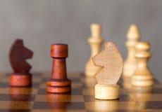 Το σκάκι λογαριάζει την κινηματογράφηση σε πρώτο πλάνο Στοκ Εικόνες