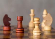 Το σκάκι λογαριάζει την κινηματογράφηση σε πρώτο πλάνο Στοκ Εικόνα