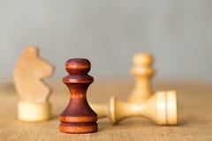 Το σκάκι λογαριάζει την κινηματογράφηση σε πρώτο πλάνο Στοκ φωτογραφίες με δικαίωμα ελεύθερης χρήσης