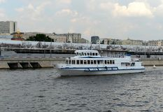 Το σκάφος ` argo-2 ` μηχανών στον ποταμό της Μόσχας Στοκ Φωτογραφία