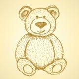 Το σκίτσο Teddy αντέχει, εκλεκτής ποιότητας υπόβαθρο Στοκ Εικόνα