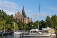 Το σκανδιναβικό μουσείο Nordiska Museet, Στοκχόλμη, Σουηδία στοκ φωτογραφία