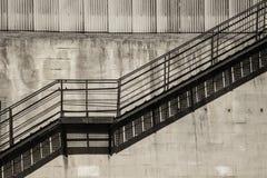 Το σκιερό κλιμακοστάσιο και η χαμένη διάσταση Στοκ Εικόνες