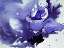 Το σκοτάδι διαδίδει τους λεκέδες μελανιού Στοκ Εικόνα