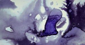 Το σκοτάδι διαδίδει τους λεκέδες μελανιού Στοκ Εικόνες