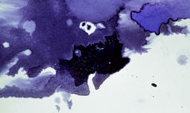 Το σκοτάδι διαδίδει τους λεκέδες μελανιού Στοκ Φωτογραφίες