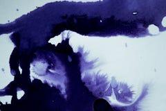 Το σκοτάδι διαδίδει τους λεκέδες μελανιού Στοκ φωτογραφία με δικαίωμα ελεύθερης χρήσης