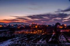 Το σκοτάδι προσπερνά Στοκ Φωτογραφίες