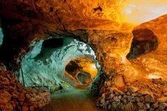Το σκοτάδι στο ορυχείο Στοκ φωτογραφία με δικαίωμα ελεύθερης χρήσης