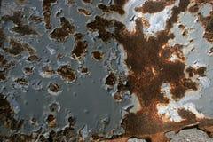 Το σκουριασμένο παλαιό μέταλλο χρωμάτισε γκρίζο Στοκ φωτογραφία με δικαίωμα ελεύθερης χρήσης